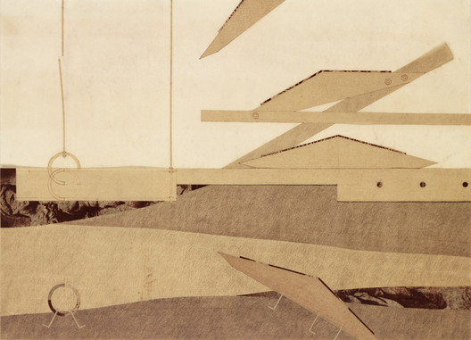 Author: Edward Arcari. Project Title: Construction Site. Course/AY: Thesis, 1985-86. Professors: John Hejduk, Donald Wall, Regi Weile. Image Courtesy of The Irwin S. Chanin School of Architecture Archive, The Cooper Union