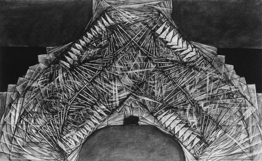 Author: Christian Dickson. Project Title: The Mark of Cain and Cain's Mark. Course/AY: Thesis, 1991-92. Professors: John Hejduk, Roderick Knox, Sean Sculley, Regi Weile. Image Courtesy of The Irwin S. Chanin School of Architecture Archive, The Cooper Union