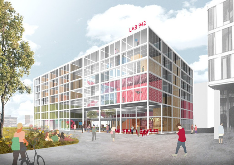 """Benthem Crouwel Designs """"Recycled and Recyclable"""" Science Faculty for the University of Amsterdam, © Benthem Crouwel Architects"""