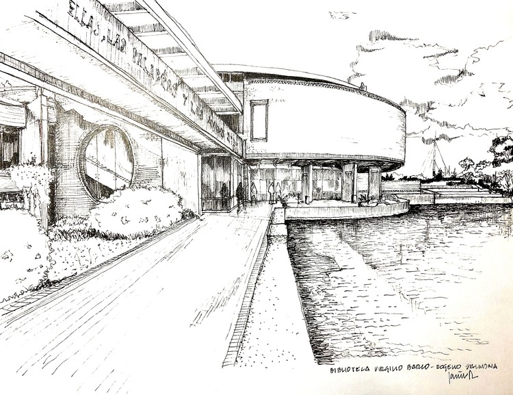 Urban Sketchers Bogotá rinde homenaje a Rogelio Salmona con estos dibujos, Cortesía de Mayerlly Cuta