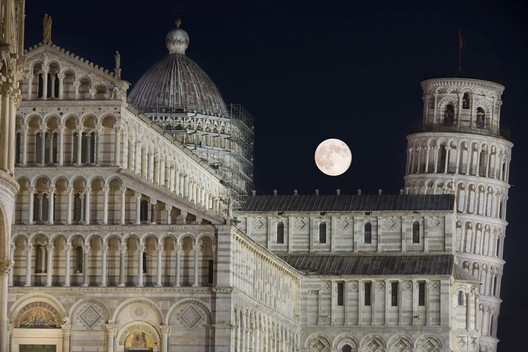 Moon and leaning tower. Image © Marco Meniero (IT), Remarkable Award