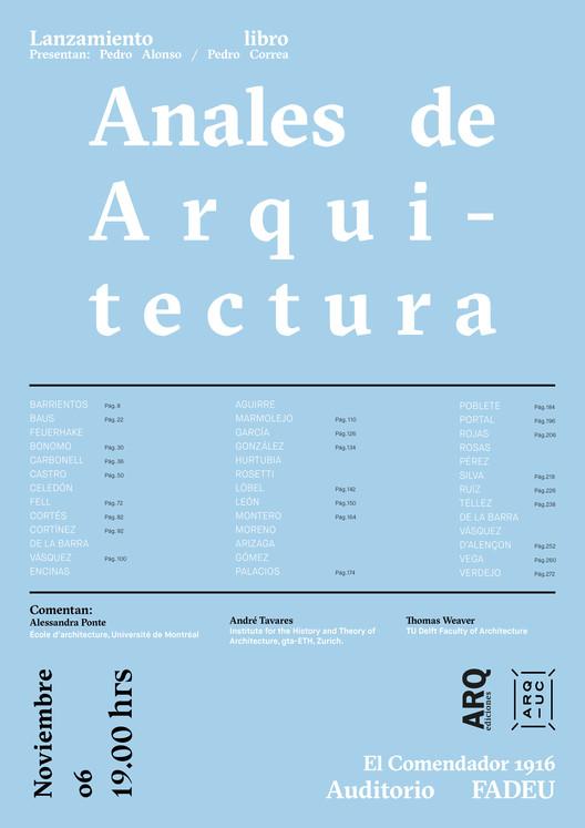 Lanzamiento del libro ''Anales de Arquitectura 2017-2018'', Cristian Valenzuela