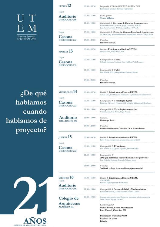 Colectivo 720 y Walter Leone encabezan actividades de la Semana Escuela Arquitectura UTEM 2018 en Chile, @SebastiánLópez