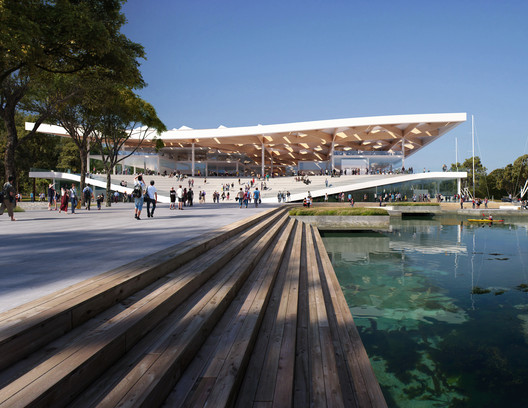 3XN Unveils Sloping Design for Sydney Fish Market