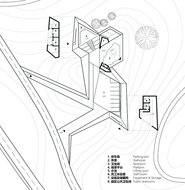 crane pavilion at crane nature preserve gbbn archdaily Small Bird Diagram floor plan