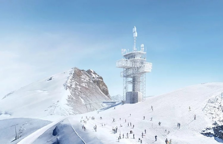 Herzog & de Meuron Reveal Plan for Titlis Mountain Station in Switzerland, Titlis Summit Station. Image Courtesy of Herzog & de Meuron