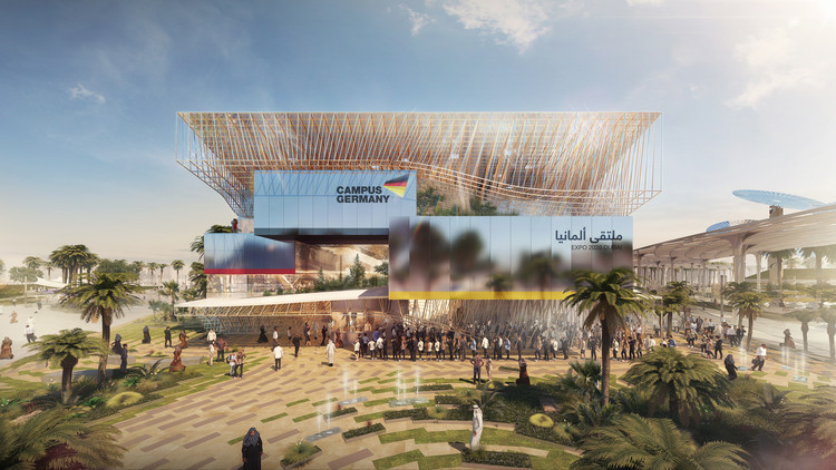 LAVA Selected to Design German Pavilion for Expo 2020 Dubai, German Pavilion. Image Courtesy of Bitscapes