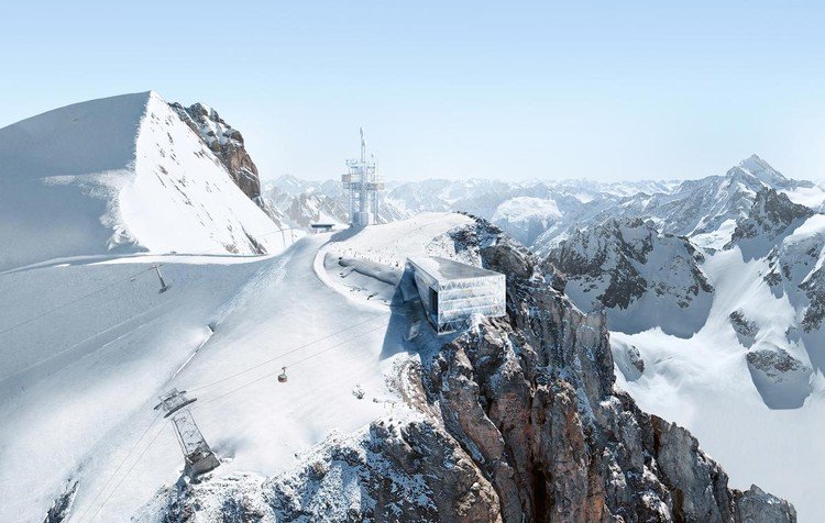 "Herzog & de Meuron's Mountain Outpost Brings ""Architectural Ambition"" to the Swiss Alps, Courtesy of Herzog & de Meuron"
