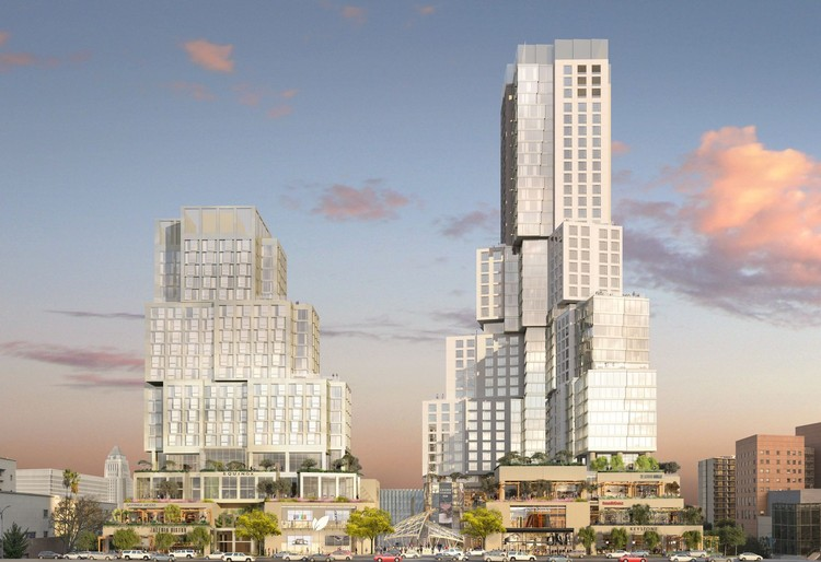 Frank Gehry's Grand Avenue Towers Finally Set to Begin Construction, The Grand. Image Courtesy of Gehry Partners