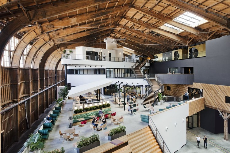 ZGF Reveals Google's New L.A. Office in Historic California Hangar, Google Spruce Goose Hangar. Image Courtesy of ZGF Architects