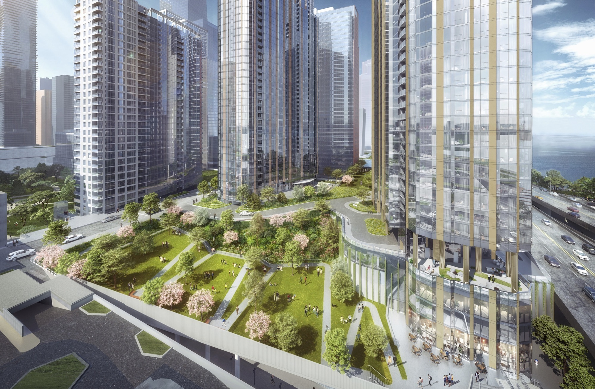 Chicago Approves bKL Architecture's Three-Tower Master Plan for Lakeshore East