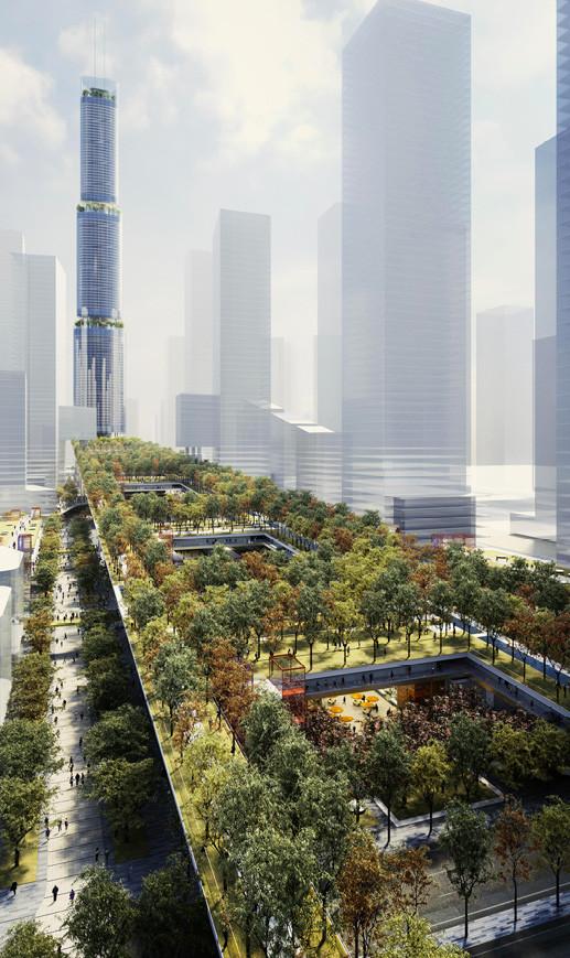 """Nuevo proyecto de Rogers Stirk Harbour + Partners será una """"sala de estar urbana"""" en China, vía Rogers Stirk Harbour + Partners"""