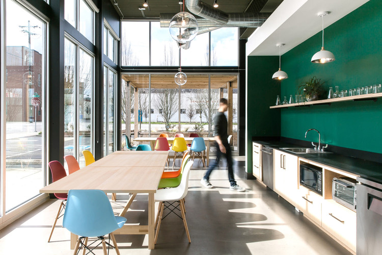 10 Years Post-Recession, a Resilient Generation Makes Practice Work for Them, Courtesy of Atelier Cho, via CommonEdge. ImageAtelier Cho Thompson designed the offices for Food Corps, a Portland, Oregon non-profit.