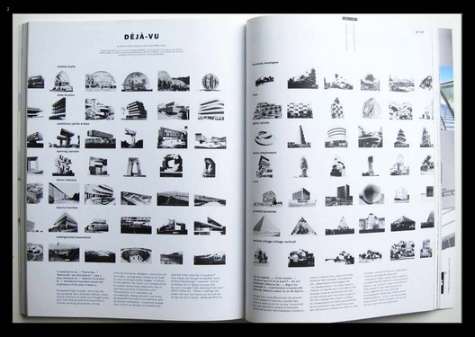 © MVRDV / The Why Factory. ImageA spread from The Why Factory's 2017 book, Copy Paste showing similarities between apparently