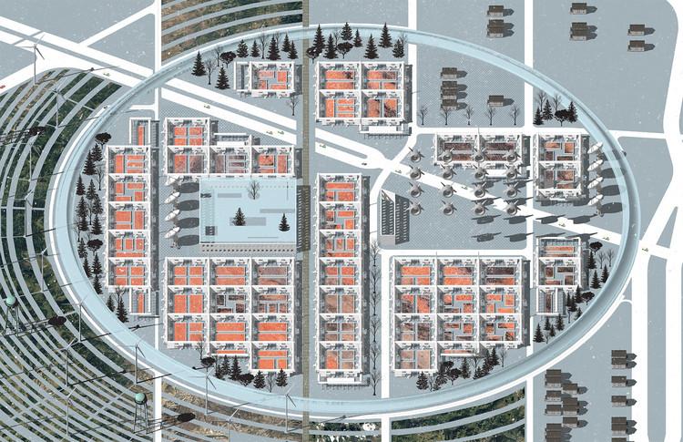 Estudiantes venezolanos especulan en sus proyectos sobre la posible desurbanización de Detroit, Julio Kowalwnko + Daniel Vidigal. Image Cortesía de 'Detroit, ciudad fantasma'