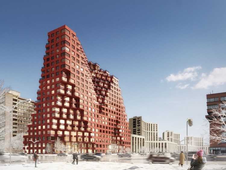 MVRDV Brings Minecraft to Life with RED7 Housing in Moscow, RED7. Image Courtesy of MVRDV