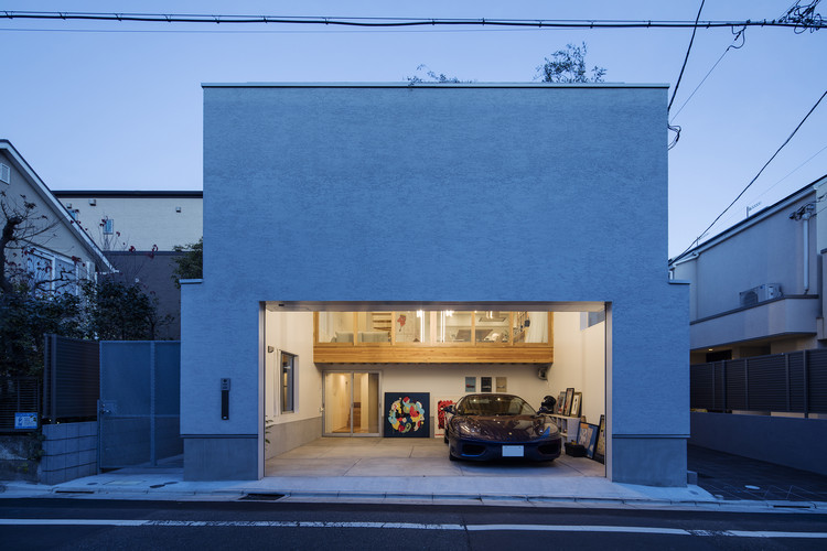Casa Garaje Vestíbulo / Tsukagoshi Miyashita Sekkei + Keitarchi, © Kenta Hasegawa