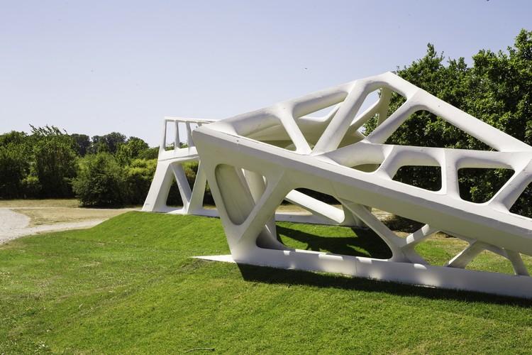 Escola de Arquitetura de Aarhus desenvolve método de fabricação robótica que reduz uso de concreto em 70%, Cortesia de Odico Formwork Robotics