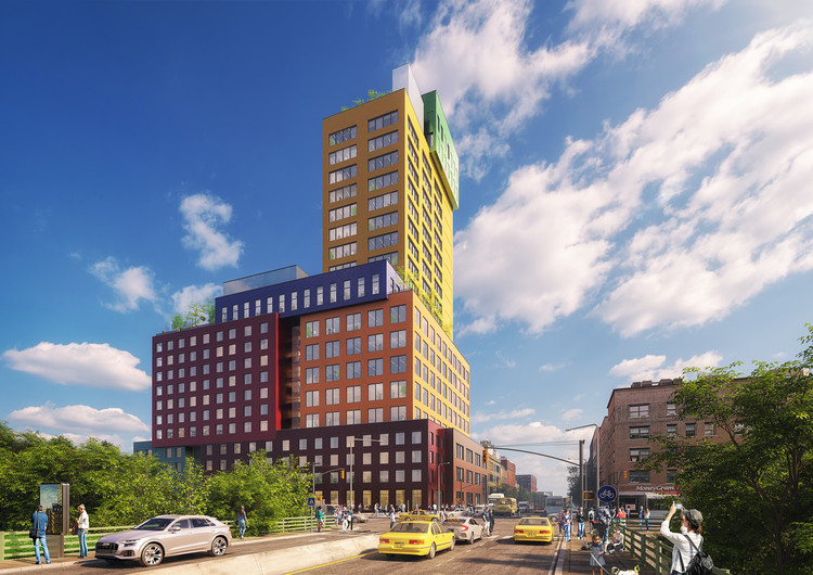 MVRDV's First US Project Breaks Ground in New York City, Radio Tower & Hotel. Image Courtesy of MVRDV