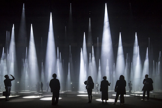 """Forest of Light"" for COS / Sou Fujimoto at Salone del Mobile. Image © Laurian Ghinitiou"