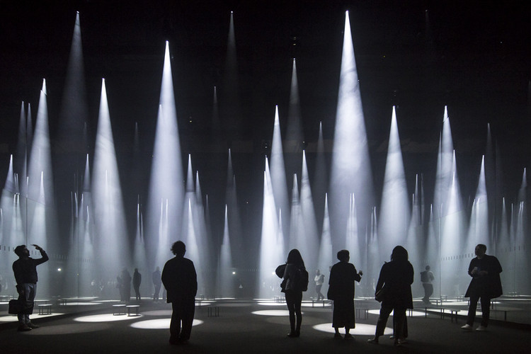 """The Future is a Spreading Matrix"": In Conversation with Sou Fujimoto, ""Forest of Light"" for COS / Sou Fujimoto at Salone del Mobile. Image © Laurian Ghinitiou"