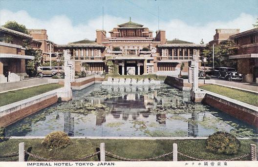 Courtesy of Wikimedia. ImageImperial Hotel Tokyo / Frank Lloyd Wright