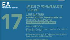 Lanzamiento Revista Materia Arquitectura #17