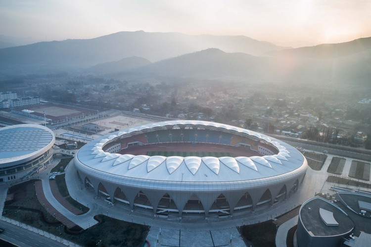 Linxia Olympic Sports Center Stadium Duts Design Archdaily