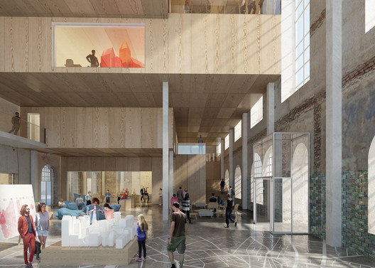 ADEPT's interior proposal for the Stadtmuseum. Image Courtesy of ADEPT