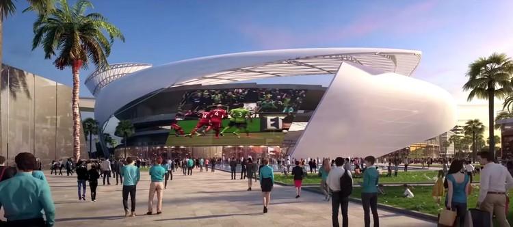 Estádio de futebol de David Beckham é aprovado em Miami, Freedom Park e cidade esportiva. Imagem cortesia de Beckham Group