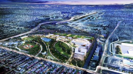 Freedom Park and Soccer Village. Image Courtesy of Beckham Group