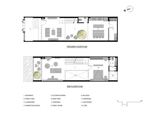 2nd & Ground floor plans