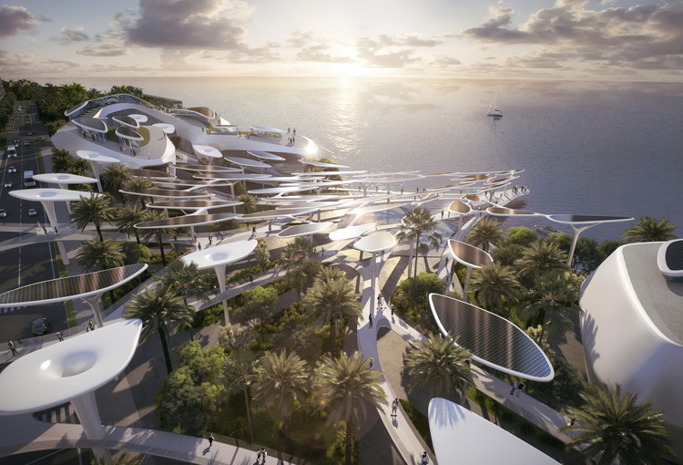 CAA Architects Reveals Futuristic Eco-City Design for the Maldives, Ocean's Heaven. Image Courtesy of CAA Architects