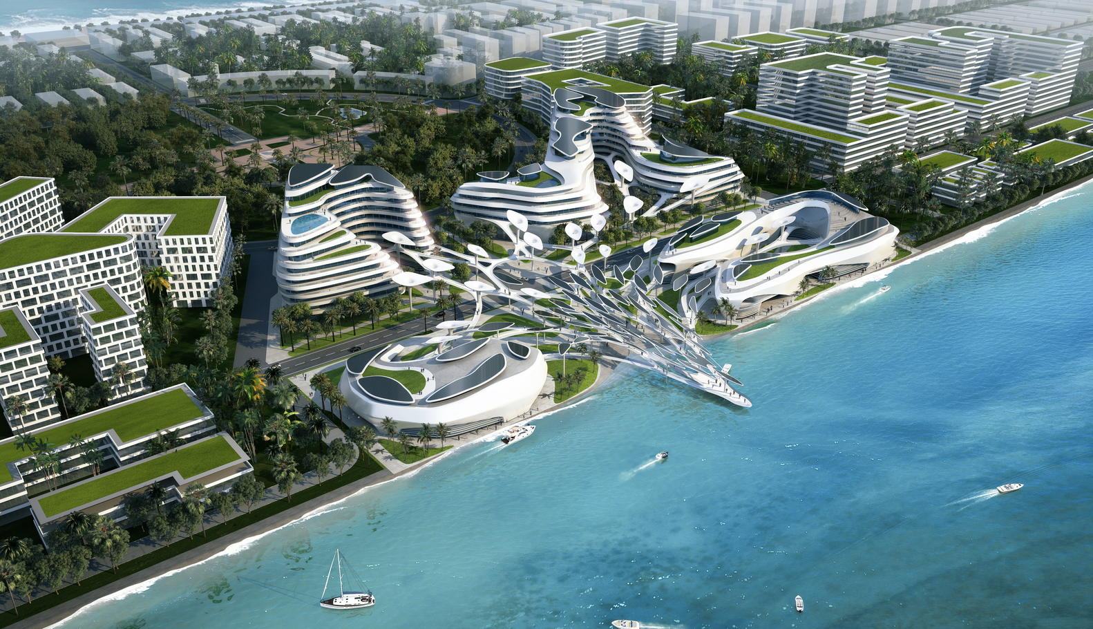 CAA Architects Reveals Futuristic Eco City Design For The MaldivesOceans Heaven Image