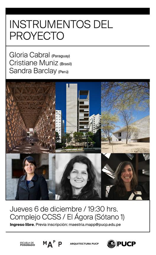 Instrumentos del Proyecto, Tres Arquitectas Latinoamericanas, © MAPP