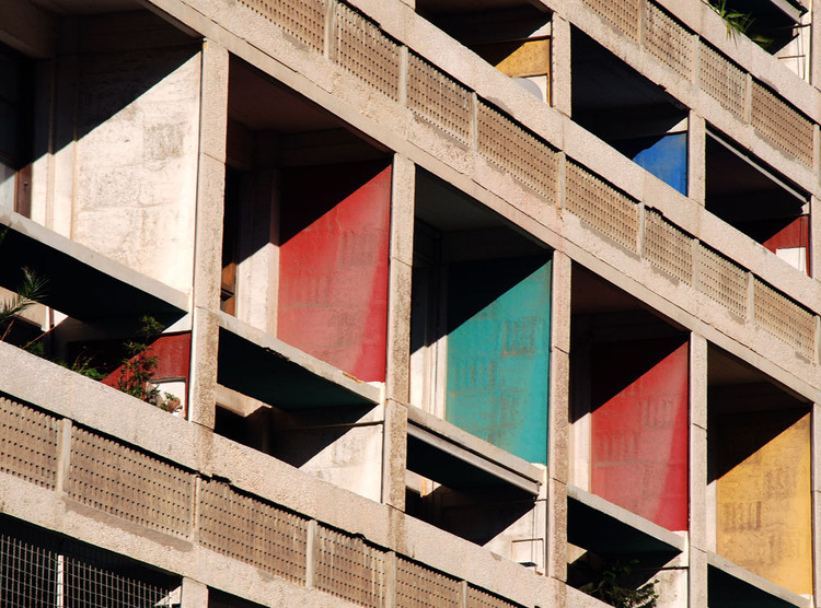 Le Corbusier y el lenguaje del color, Brise soleil de Unité d'Habitation. Image © R Garbett [Flickr bajo licencia CC BY-NC 2.0]
