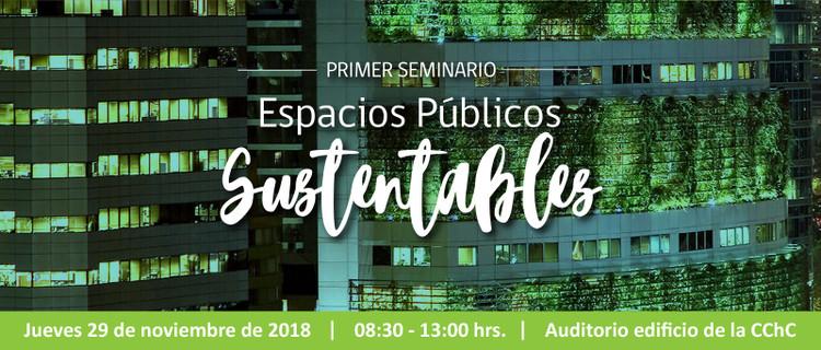 Seminario 'Espacios públicos sustentables' en Santiago