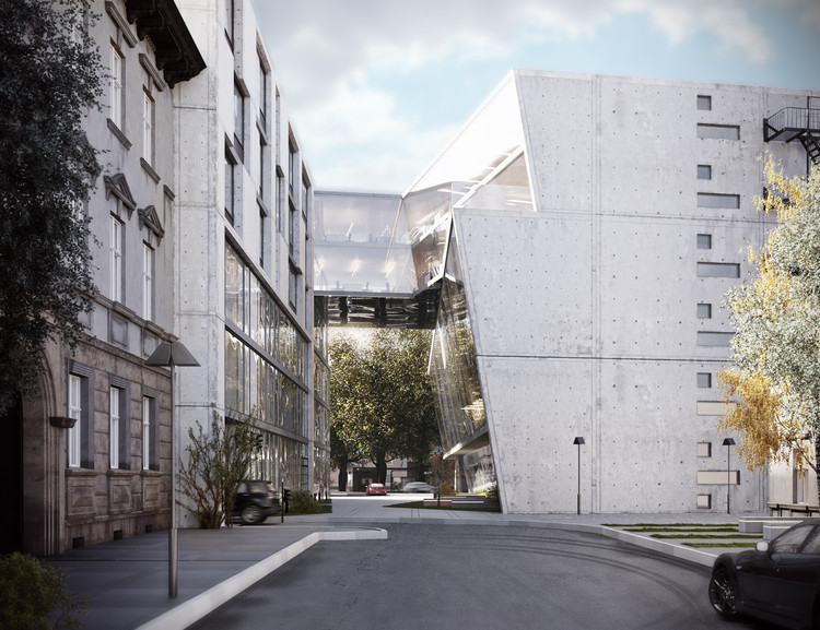 "MAD Architects Reveals ""Urban Sculpture"" Complex in Vilnius, Vilnius Multifunctional Complex. Image Courtesy of MAD Architects"