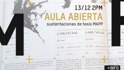Aula Abierta: sustentaciones de tesis MAPP