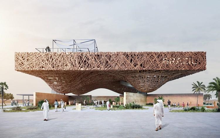 Kozlowski + Cardia Design Floating Tree Branch Pavilion for Expo 2020 Dubai, Brazil Pavilion. Image Courtesy of Gabriel Kozlowski