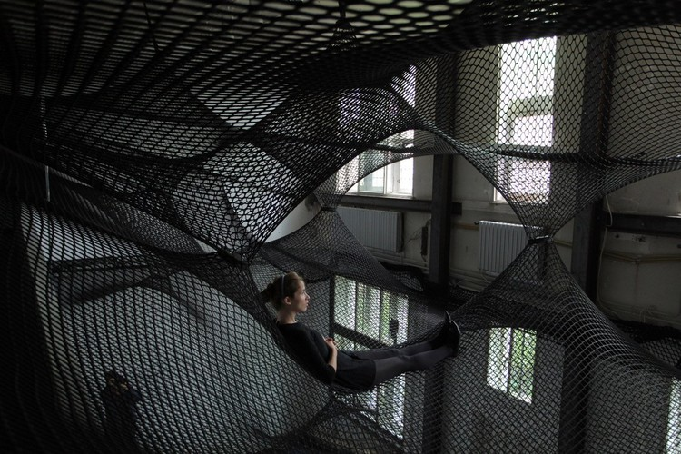 Architecture That Uses Meshes and Nets for Escape, Play and Rest, Courtesy of Numen / For Use