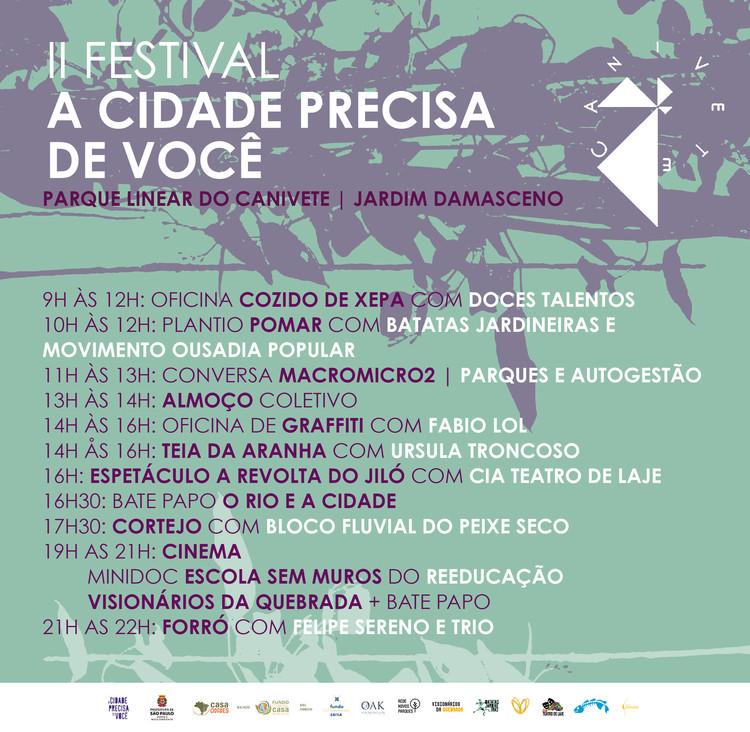 II Festival A Cidade Precisa de Você, programação do evento Rolê no Canivete, dia 1 de dezembro