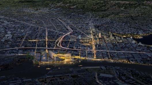 Oakland Baseball Stadium. Image Courtesy of Oakland Athletics / Bjarke Ingels Group