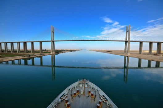 The Al Salam Peace Bridge crossing the Suez Canal at El-Qantara links Africa and Asia was completed in 2001 as part of a major drive to develop the areas surrounding the Suez Canal.