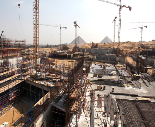 """One of the four concurrent mobile workshops of the LafargeHolcim Forum on """"archeological heritage"""" will visit the largest archeological museum in the world – the Grand Egyptian Museum currently nearing completion."""