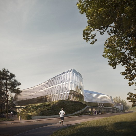 3XN Architects - Olympic House - International Olympic Comittee HQ, Lausanne, Switzerland. Image © 3XN Forbes Massie