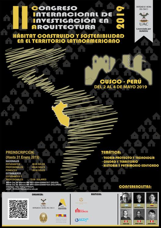 """II Congreso Internacional de Investigación en Arquitectura: """"Hábitat construido y sostenibilidad en el territorio latinoamericano"""""""