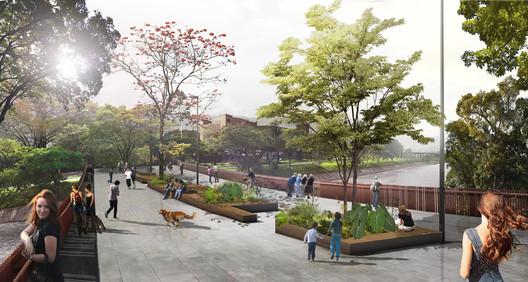 Sebastian Monsalve + Juan David Hoyos - Medellin River Parks Botanical Park Master Plan. Image © Sebastian Monsalve + Juan David Hoyos