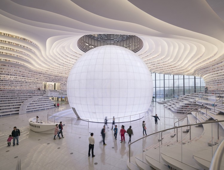 The Top Creative Cities and Countries of 2018 According to Airbnb, Tianjin Binhai Library / MVRDV + Tianjin Urban Planning and Design Institute. Image © Ossip Van Duivenbode