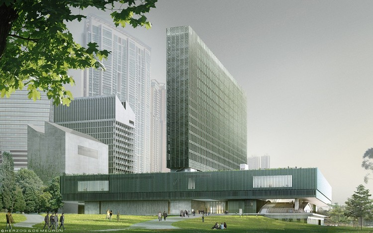 Herzog & de Meuron's M+ Museum Tops Out in Hong Kong, M+ Museum. Image Courtesy of Herzog & de Meuron